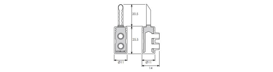 Viablue TS2 Fiches Banane Plaque Or Ø5mm (Set x4)
