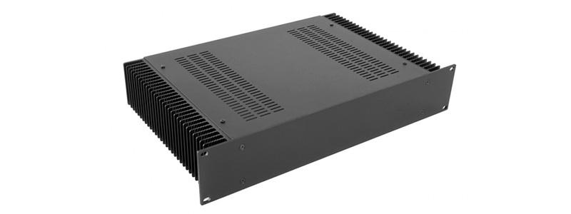 HIFI 2000 Boïtier Dissipateur 2U 300mm Façade 10mm Argent