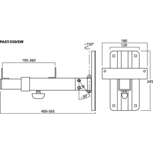 MONACOR PAST-550 Dimensions