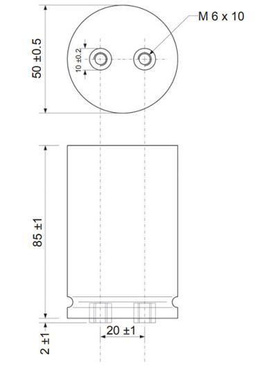 Mundorf TubeCap Condensateur 550V 100µF