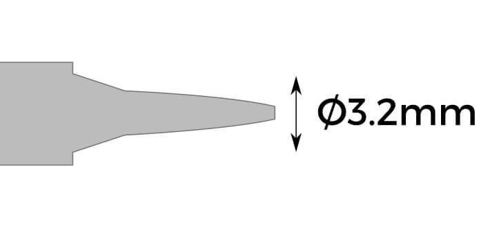 soldering tip for digital soldering station 3.2mm