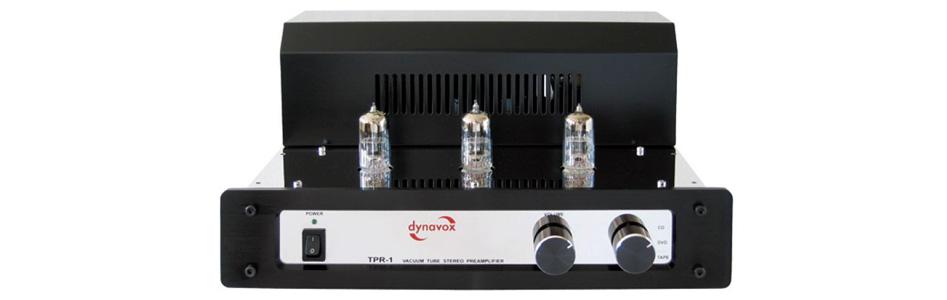 Dynavox TPR-1 Préamplificateur à Tubes 3x 6N3 Chrome
