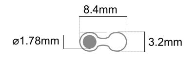 Dimensions cable hifi