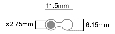 stereo cable Dimensions