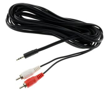 Câble de modulation Jack 3.5mm mâle vers RCA stéréo mâle 5m