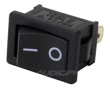 Interrupteur à Bascule Monostable ON-OFF 250V 3A Noir
