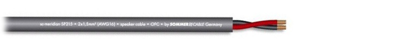 SOMMERCABLE MERIDIAN SP215 Câble HP Cuivre OFC 2x1.5mm² Ø 6.8mm