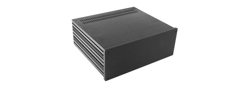 Hifi 2000 Boitier 10mm GX388 - 80x330x280 - Facade Noire