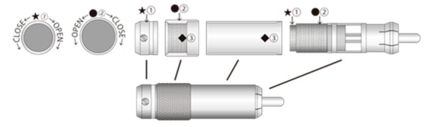 Oyaide Genesis Connecteurs RCA Plaqués Platine / Rhodium Ø9mm (Set x4)