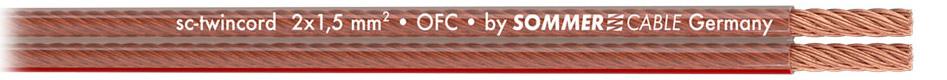 Sommercable Twincord Câble^Haut-Parleur Cuivre OFC 2x4mm²