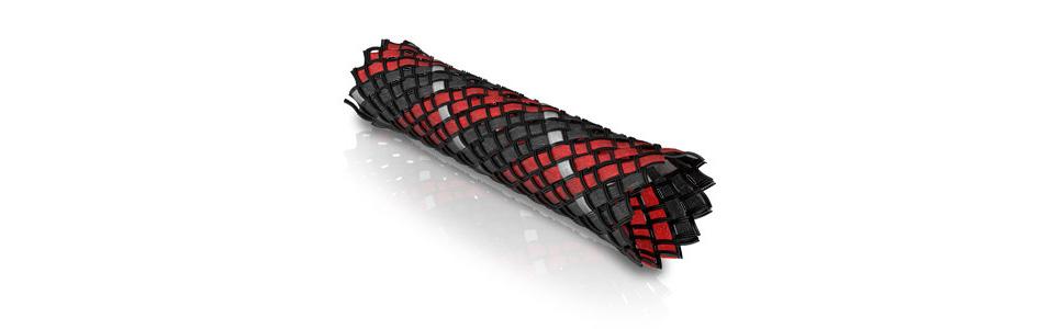 Viablue Gaine Tressée Rouge Noir Ø6-14mm