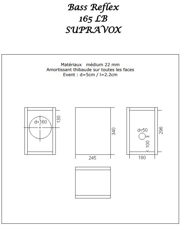 Supravox 165LB Kit DIY Bass Reflex