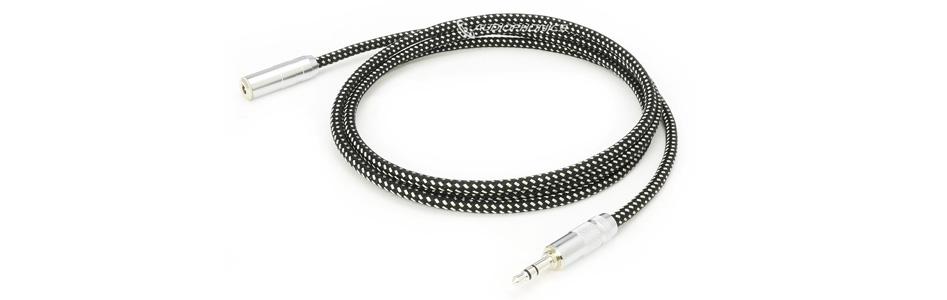 Oyaide HPSC-35J Câble Jack 3.5mm mâle vers Jack 3.5mm Femelle Cuivre 102SSC Plaquage Argent / Rhodium 1.3m