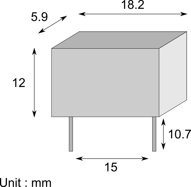 Schema dimensions condensateur entraxe pas connecteurs