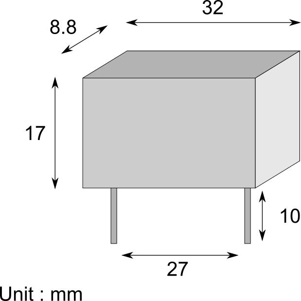 Capacitor dimensions schematics