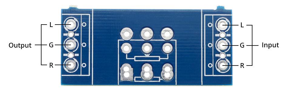 PCB pour Potentiomètre Raccordement Entrées / Sorties