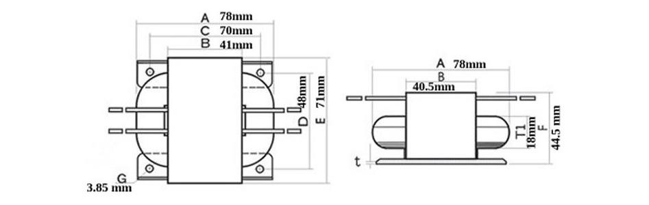 Transformateur R-Core 30VA 2x115V vers 2x15V 1A