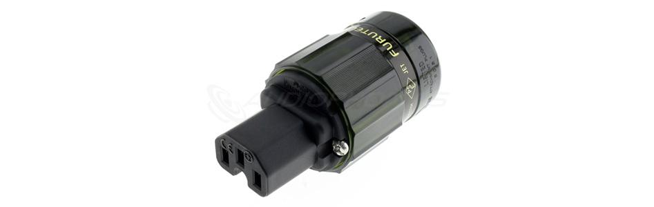 Furutech FI-28 (G) Connecteur IEC Cuivre Pur Plaqué Or 24k Ø17.5mm