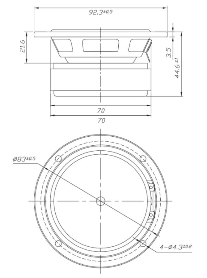 Dayton Audio DS90-8 Dimensions