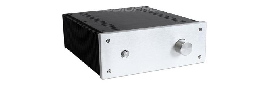 Boîtier amplificateur DIY 100% Aluminium 271x240x90mm