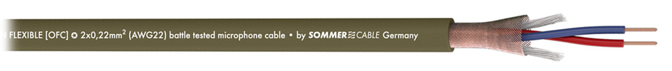 Sommercable Captain Flexible Câble de modulation symétrique OFC 2x0.22mm² Ø6.5mm