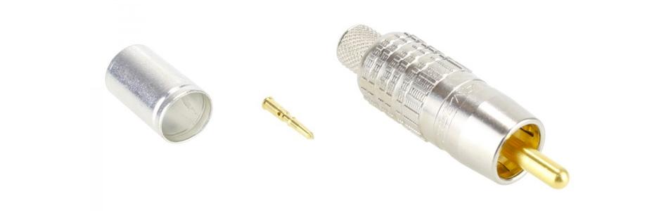 Canare RCAP-C5F Connecteur RCA 75Ω Hautes Performances Ø5mm (Unité)