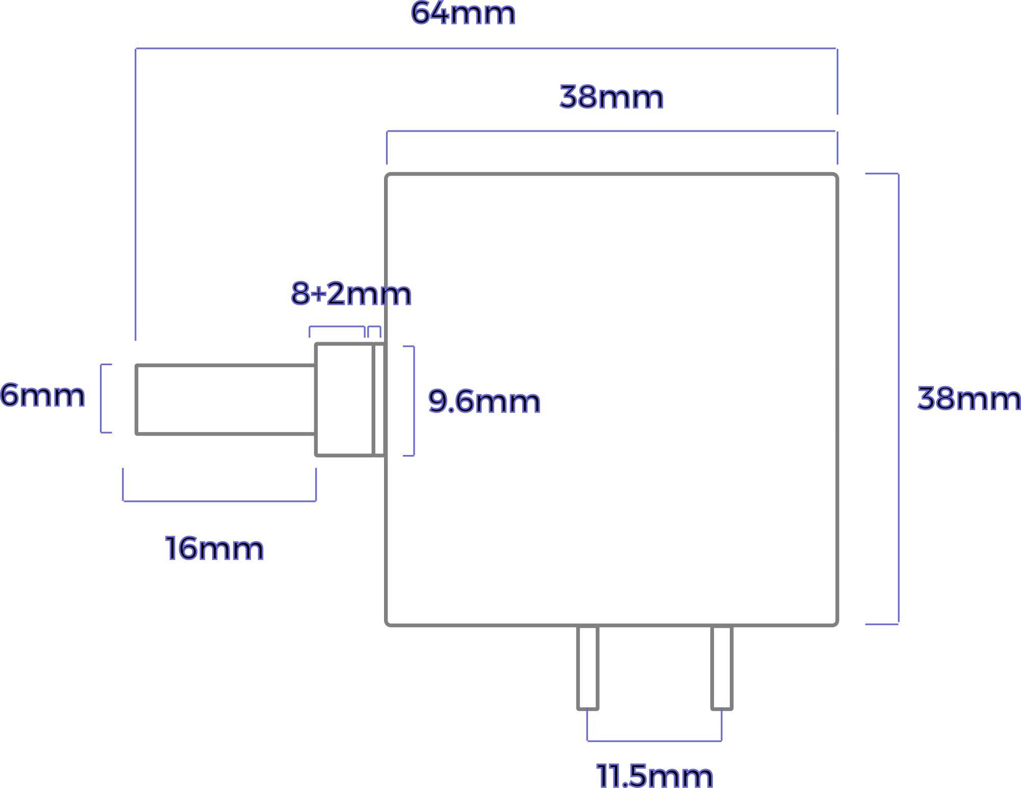 Dimensions EIZ Atenuateur audio