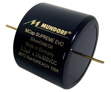 Mundorf MCap Supreme Evo SilverGold Oil Condensateur 1000V 1µF