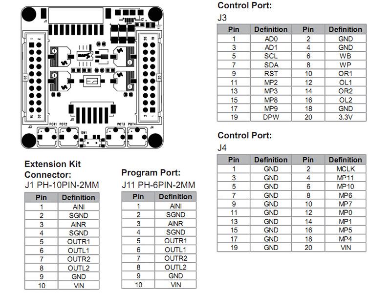 Wondom ADAU1701 Compact DSP Module for Active Filtering RCA Board
