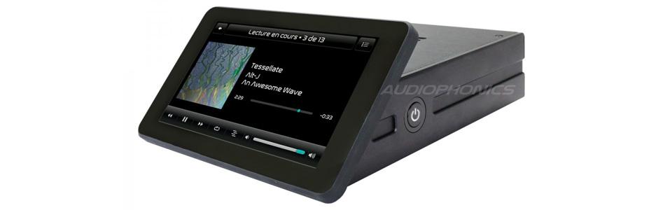 Audiophonics RaspTouch ES9023 Lecteur réseau tactile Raspberry Pi 3B+ DAC I-Sabre V4 ES9023 TCXO Noir