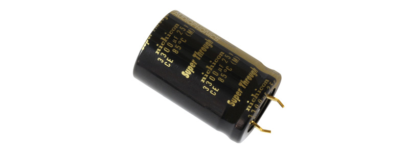 Nichicon KG Super Through Condensateur audio 25V 3300µF
