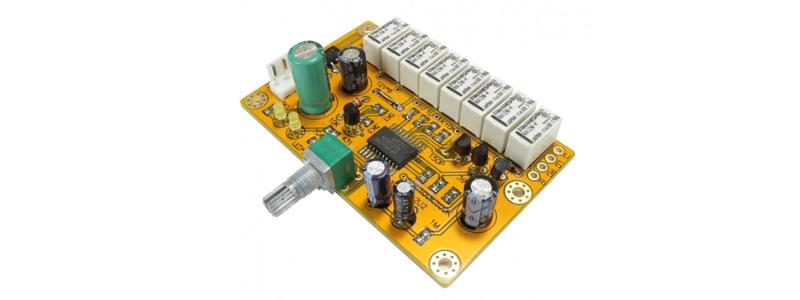 Contrôleur de volume passif à résistances 8 bit 256 niveaux par porte logiqu