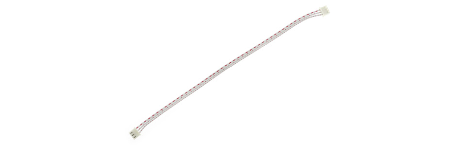 Câble XH 2.54mm Femelle / Femelle 2 Connecteurs 3 Pôles 20cm Blanc (Unité)
