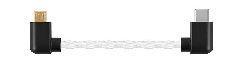 Shanling L2 Câble Micro USB vers USB-C Cuivre Plaqué Argent 10cm