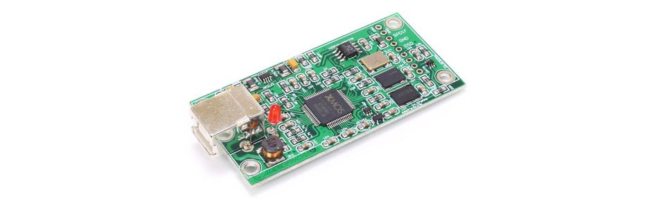 Interface USB XMOS U208 vers I2S / SPDIF 32bit 384kHz DSD256