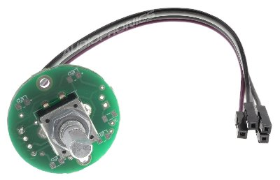 Encodeur rotatif 24 positions bouton poussoir pré-soudé