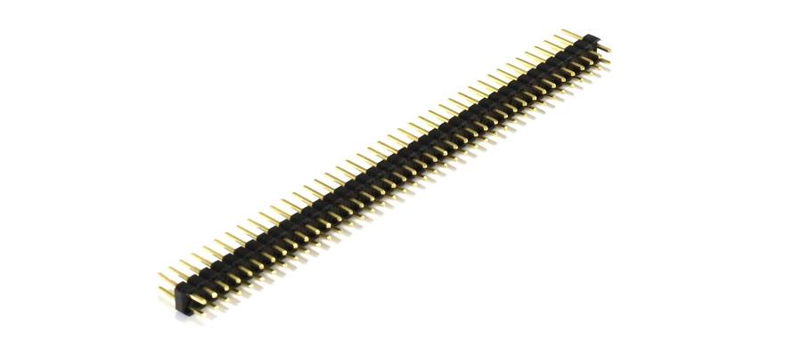 Connecteur barrette droit 2x40 pins mâle / mâle