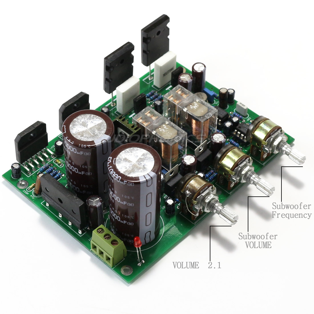 Tube buffered LM3886 4 ohm amplifier PCB