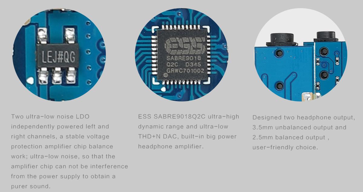 SMSL IQ USB OTG ANDROID DAC Headphone Amplifier ES9018Q2C XMOS U208 ...