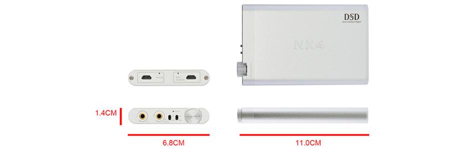 Topping NX4DSD DAC USB Amplificateur Casque sur Batterie ES9038Q2M 32bit 768kHz Noir
