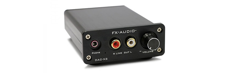 FX-Audio DAC-X3 DAC / Amplificateur Casque CS4344 24bit 192kHz Noir