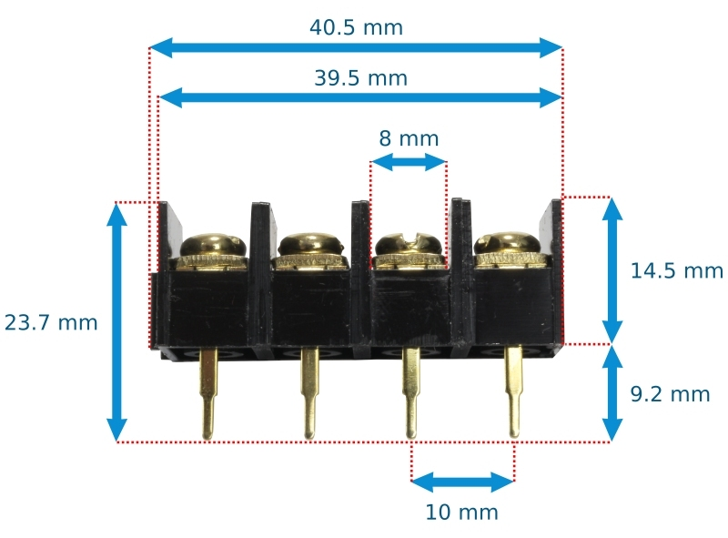 electronic connector terminal size 4 gold plated audiophile location