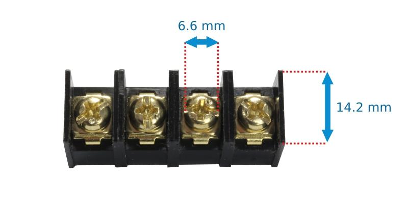 Visserie dimensions profondeur borniers connecteurs circuits imprimés