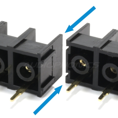 Borniers empilables clipsables plaqué or électronique