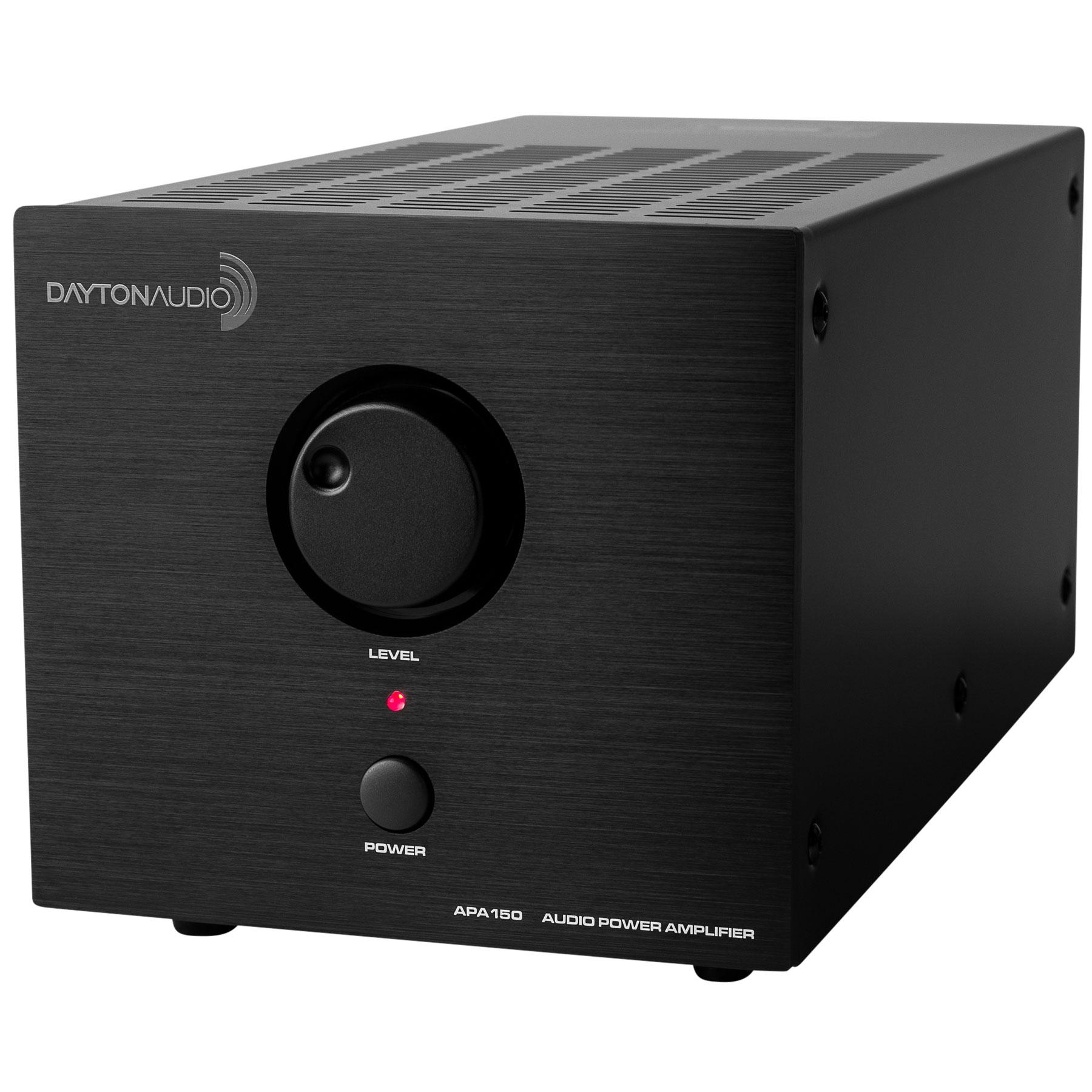 Dayton Audio APA150 Amplificateur de bureau Class A/B 1x150W 8 Ohm 2x75W 4 Ohm