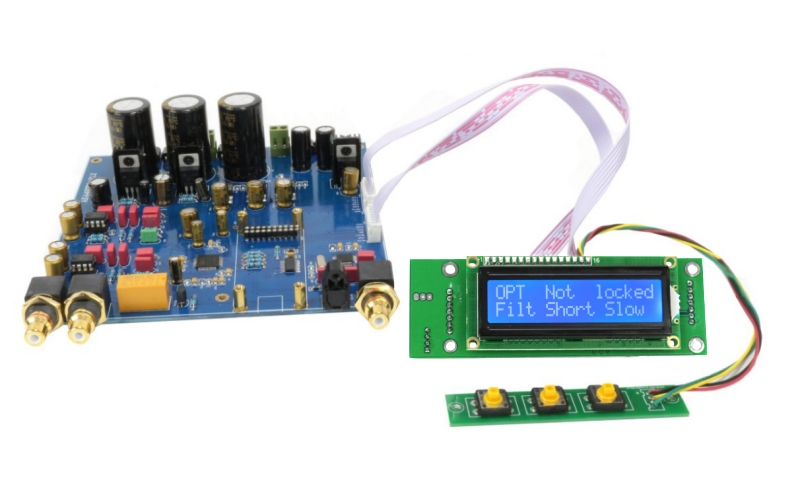 Module DAC avec écran et interface 3 boutons