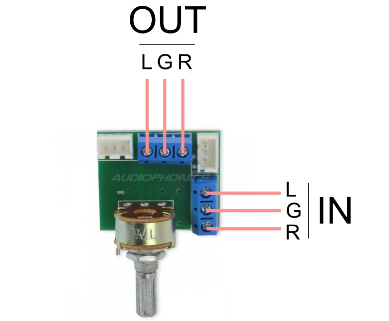 input and output potentiometer wl 50k