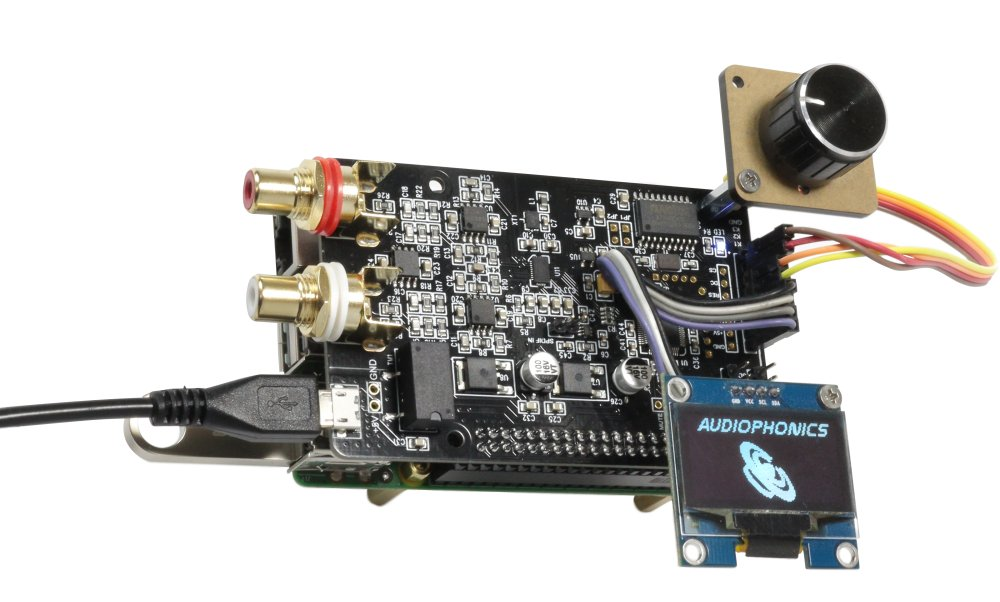 Audiophonics ES9038Q2M DAC I-Sabre ES9038Q2M Raspberry Pi / I2S & SPDIF / PCM DSD Alimentation Micro USB
