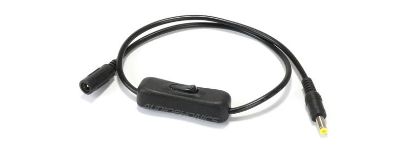Câble Jack DC avec interrupteur