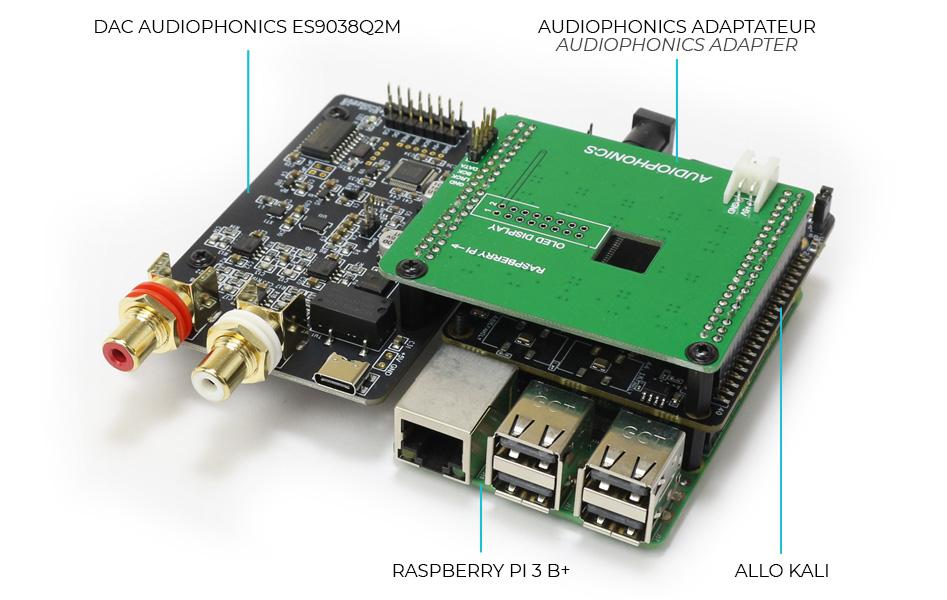 Adaptateur Audiophonics Allo Kali DAC ES9038 ALLO KALI